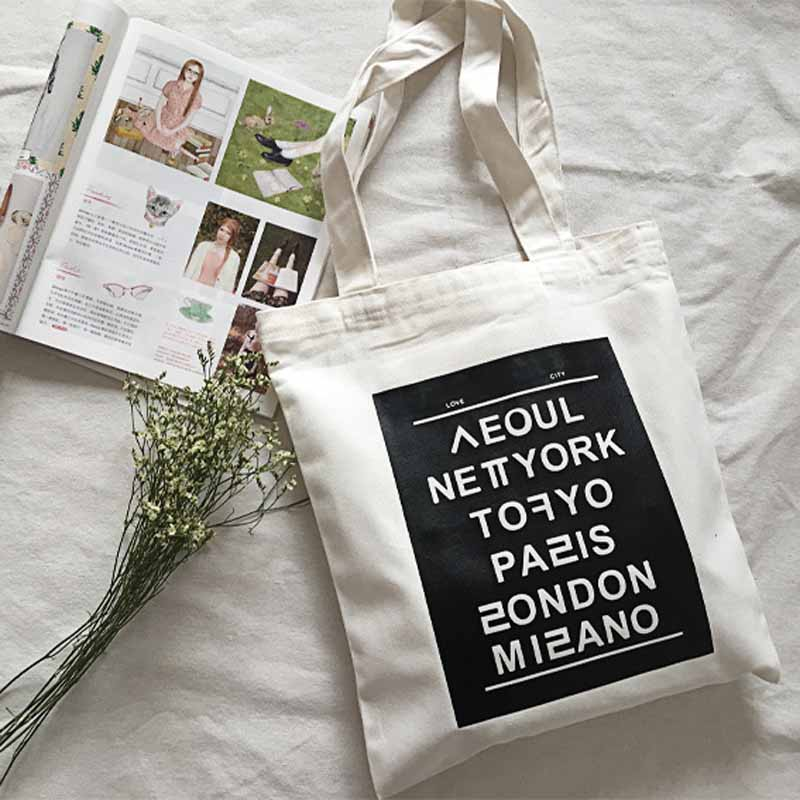 women shoulder bags new fashion print English capital casual tote letter Literature and art hit color big canvas handbag,LB1700(China (Mainland))