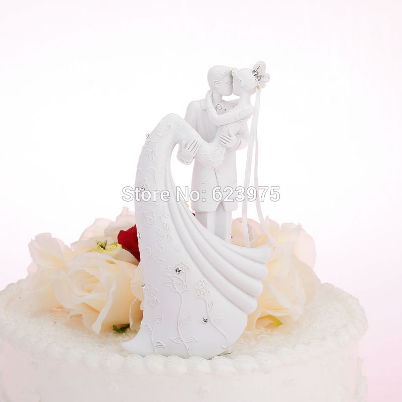 Romantic Wedding Cake Toppers White Wedding Cake Toppers Supplies(China (Mainland))