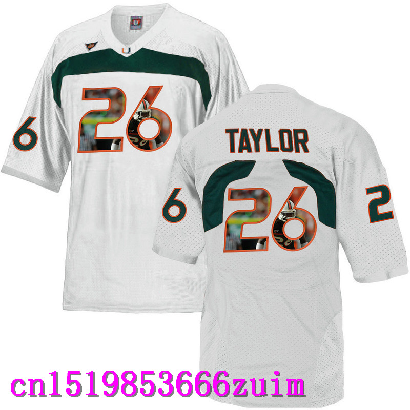 2017 Men's Miami Hurricanes Sean Taylor #26 Basketball Multiple color optional Multiple patterns(China (Mainland))