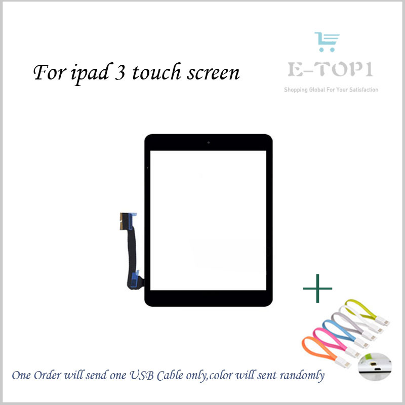 High Quality 9.7 Inch For iPad 3 New Touch Screen Panel Digitizer Glass Sensor Repairment Parts Tablet Pc+Free Shipping<br><br>Aliexpress
