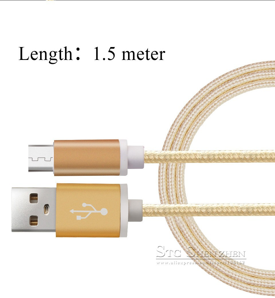 Braided Cellular phone Cables Micro USB Date Cable For Samsung (1)