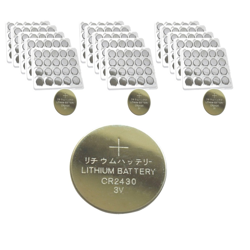 300PCS PKCELL CR2430 2430 DL2430 3V 270mah Lithium Button Coin Batteries For Watches,clocks,hearing aids<br>