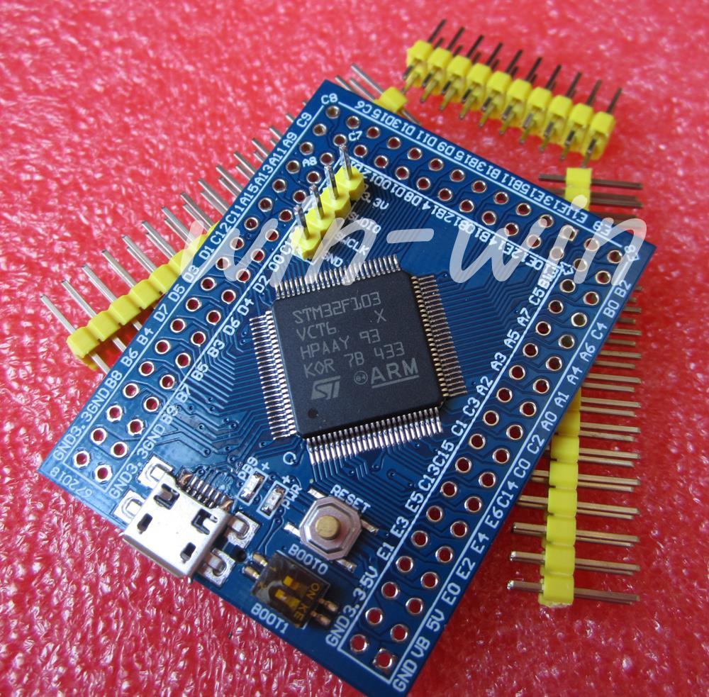 Гаджет  1pcs STM32F103VCT6 ARM STM32 Minimum System Development Board  None Электронные компоненты и материалы