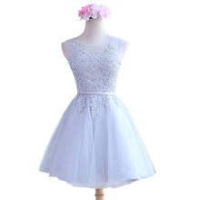 vestidos de fiesta 2016 Ready To Ship In Stock For pink color Embroidery Scoop Short Cute Robe De Cocktail Dresses(China (Mainland))