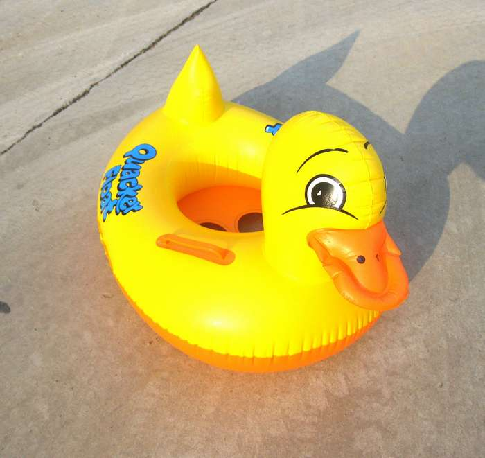 Duck boat child swim ring inflatable boat water toys(China (Mainland))