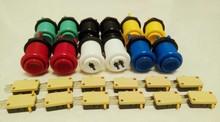 12 шт./упак. игровые игровые автоматы частей микропереключателями аркады комплекты американский кнопки + игрока кнопки