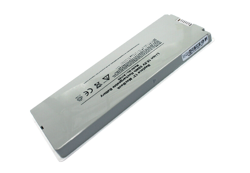 """Li-ion Replacement Laptop Battery 10.8V 55Wh 6 Cells Compatible for MacBook 13"""" A1185 A1181 MA561 Batteries US Warehouse(China (Mainland))"""