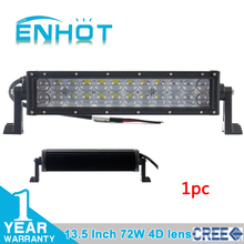 4D lens 13.5 inch 72W Cree LED Work Light Bar for Tractor Boat Off-Road 4WD 4x4 Truck SUV ATV Spot high range Beam 12v 24v(China (Mainland))