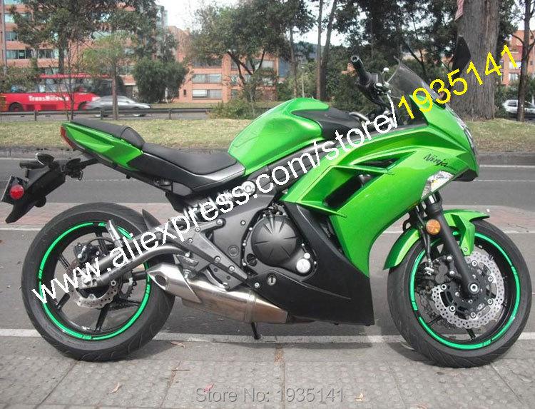 Hot Sales,Body Kit For Kawasaki Ninja ER-6F 2012-2015 ER6F 12 13 14 15 ER 6F 650R Green Black Bodyworks Motorbike Fairing Kit(China (Mainland))