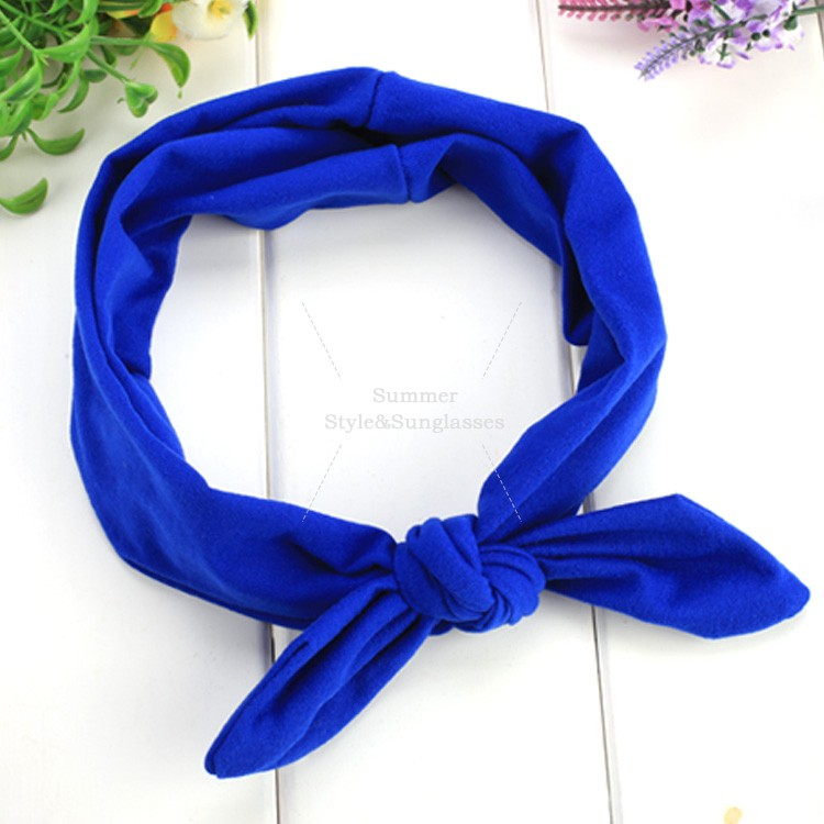 Free Shipping Fashion Women Ladies Baby Girl Bow Elastic Stretch Wide Head Band Plain Hair Band Headbands Hair Accessories 36(China (Mainland))