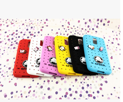 Fashion croc shoes Silicone cover case For samsung galaxy s5 i9600 phone case + Free shipping(China (Mainland))