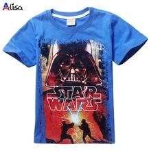 Новый 2016 мальчики звездные войны одежда тенниски девушки дети nova star wars лучших футболку детей летом майка star wars meninos roupas(China (Mainland))