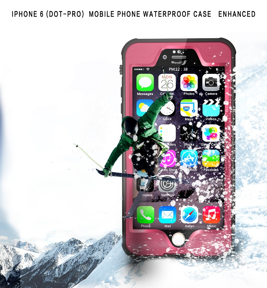 Red Pepper Dot-Pro Waterproof Cases for iPhone 6 plus 6s plus Shockproof Diving Phone Case Enhanced