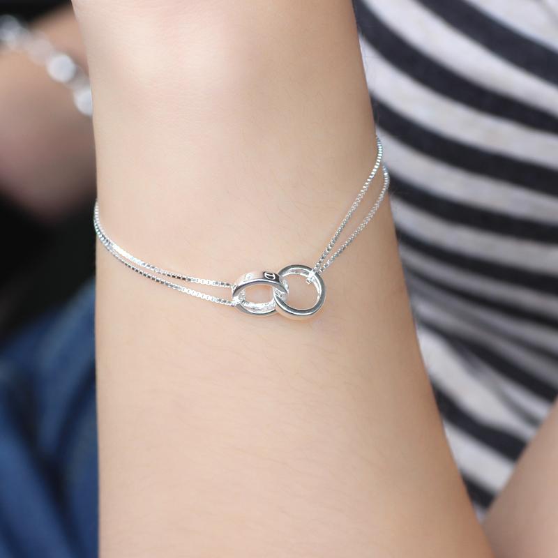Brand Style Pure Silver Bracelet Fine Jewelry<br><br>Aliexpress