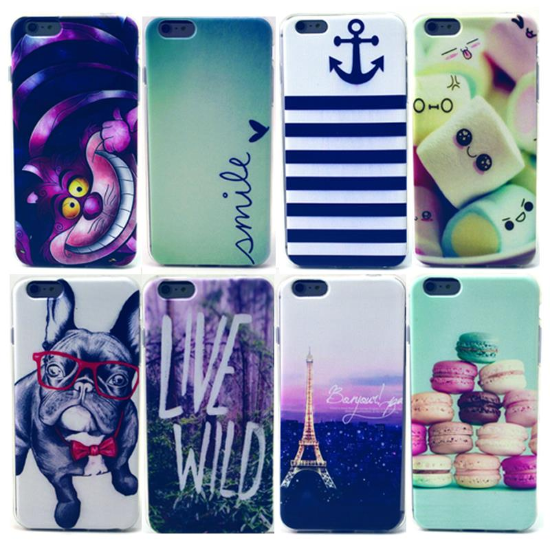 Desert Love Box Macaron Multi Cat Blue Sunflower Mickey Cotton candy Glass Dog Silicon Soft TPU Case Cover For iPhone 4 4S 4G(China (Mainland))