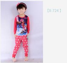 doc mcstuffins t shirt pants pajamas suit baby girls Cartoon Pajamas set For boys girls Sleep
