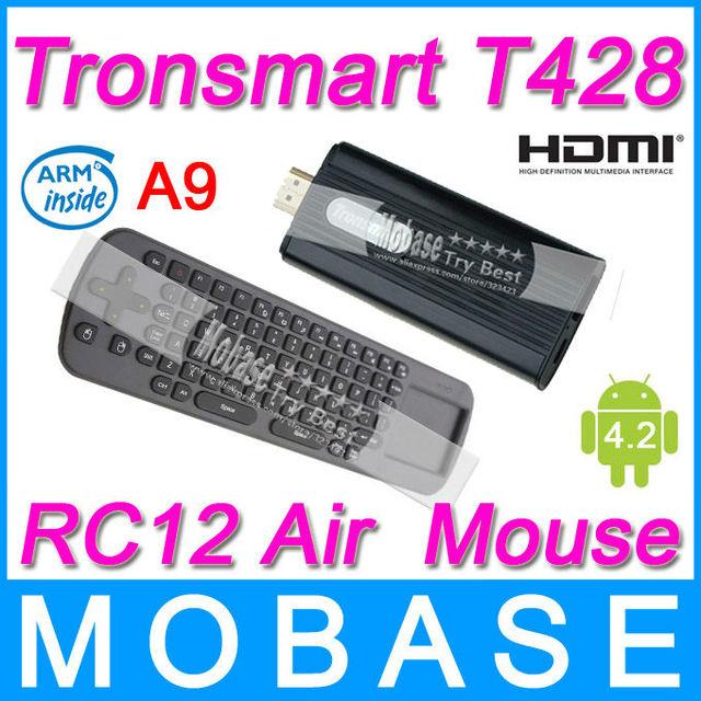 [RC12 Air Mouse] Tronsmart T428 Quad Core TV Box Android 4.2 Mini PC RK3188 Cortex-A9 1.8GHz 2G/8G Broadcom AP6330 BT WiFi HDMI