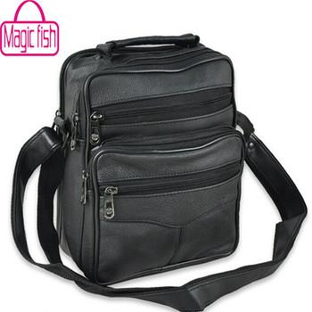 Magic Fish! famous leather handbag Men Messenger Bags Outdoor Brand Vintage Men'S Travel Bag high Quality men bag LM0057mf