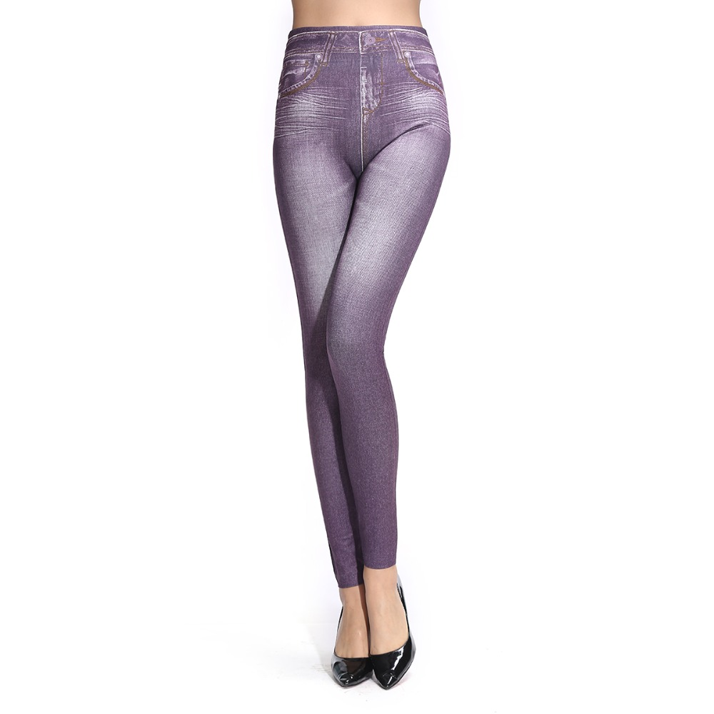 Brand New Women Leggings Jeans Shiny Cow Style Ankle-length Mid Waist Womens Legins High Quality Warm Leggings 6 Colors(China (Mainland))