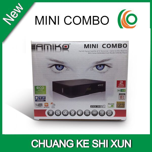 2015 amiko mini combo HD PVR Receiver With Conax CAS CCCam Newcamd cardsharing(China (Mainland))