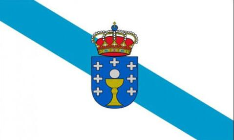 Galicia Galician Spain Flag 3ft x 5ft Polyester Banner Flying 150* 90cm Custom flag outdoor(China (Mainland))