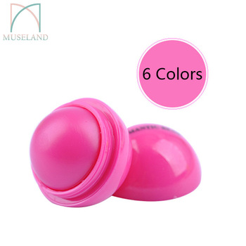 Round Ball Moisturizer Cute Lip balm Natural Sphere Lip Pomade Fruit Embellish Protect Lip 5g Makeup Brand HengFang #S4349