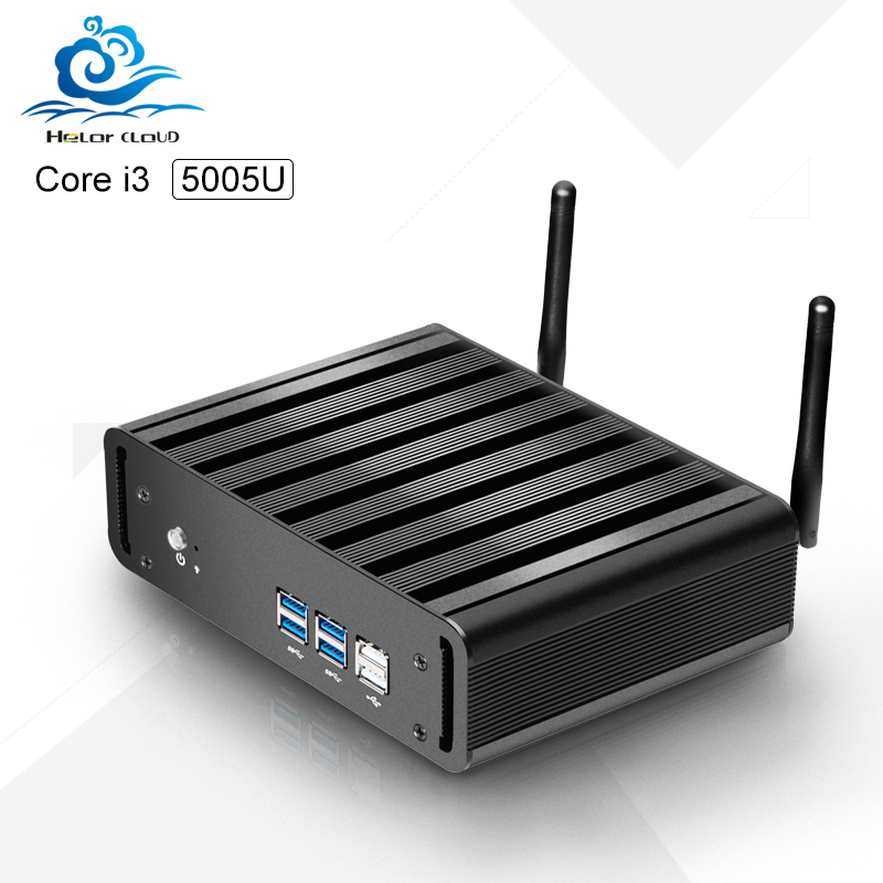 HLY Fanless  Mini Desktop pc Core i3 dual-core 5005u  HDMI+VGA MINI PC HTPC tv box support customized<br><br>Aliexpress
