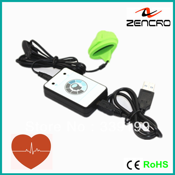 School health tracker usb transmit to computer heart rate monitor ear and finger clip pulse sensor(China (Mainland))