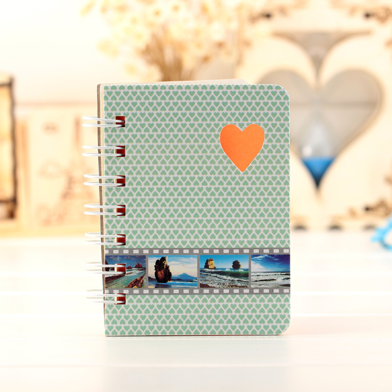 Cute Notebook Love Pattern Agenda week plan Diary Day planner journal record stationery office School supplies(China (Mainland))