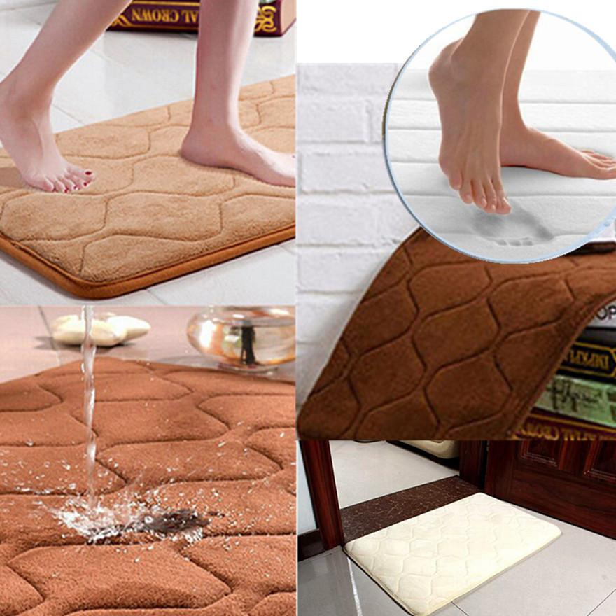 New 2015 Memory Foam Bath Mat Absorbent Non slip Pad Bathroom Bath Mat Mats 40x60cm
