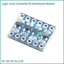 Buy 5PCS IIC I2C Logic Level Converter Bi-Directional Module 5V 3.3V Arduino for $1.15 in AliExpress store