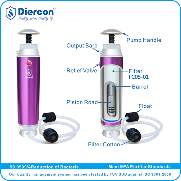 Competitive prices & quality Supplier/Manufacturer Diercon PORTABLE outside water filter Pump portable water filter (KP01-04)(China (Mainland))