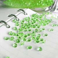 FREE SHIPPING+TRACKING No.--10000pcs (10000 pcs=10 pack) 1/3 Carat (4.5mm) Light Green Diamond Confetti Wedding Party Decoration