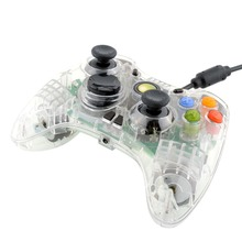 USB Wired  Transparent LED light Gamepad Controller Joypad For Microsoft For XBOX 360 PC Video Games Gamepad for xbox 360