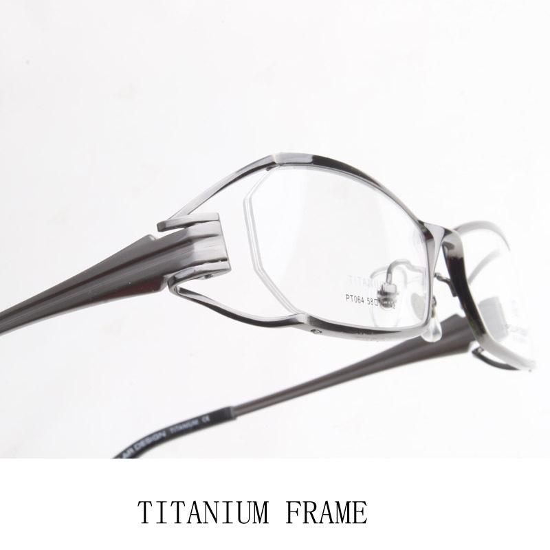 Titanium Half Rim Eyeglass Frames : High Quality Pure Titanium Half rim Eyeglass Frame Semi ...