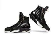 2016 Newest Designer Men's Fashion Camouflage Ankle Buckle Casual Shoes For Men High Top Shoes Platform Motorcycle Men Shoes