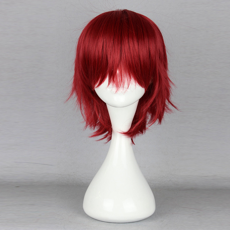 Cuticle Detective Inaba Cosplay Wig  Short Pixe Cut Hair Wigs Burgundy Natural Cheap Hair Wig Peruca Cosplay Perruque Homme<br><br>Aliexpress