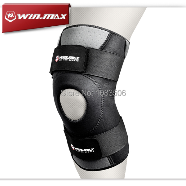 WINMAX Neoprene Elastic Open Patella Adjustable Basketball Kneepad Rodilleras Soutien Joelheira Knee Protector Support Pad Brace(China (Mainland))