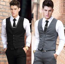 Vest Dress Men Formal Business Party Mens Dress Vest Suit Male Plus Size 4XL 5XL 6XL Colete Masculino Gilet Homme Vest Dress Men(China (Mainland))
