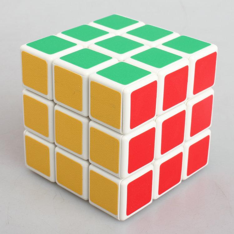 2015 New Sheng shou 3x3x3 Magic Cube Shengshou Stickerless Rainbow Cube Puzzles Educational Toy Children's Gift No Stickers(China (Mainland))