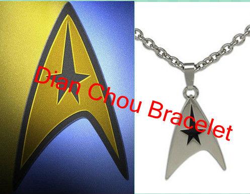Freeshipping 2013 Hotsales a lot 20pcs Star trek necklace Star trek brooch science necklace good quality wholesale pins XJXZ04<br><br>Aliexpress