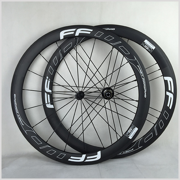 light carbon fiber bike wheels Taiwan time trial carbon cycling wheels 50mm clincher carbon wheelset with Powerway R13 for track(China (Mainland))
