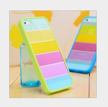 CHIP-1PC Free Shipping New Design Cover Rainbow shell For iphone 4 4s Case CN Free Shipping(China (Mainland))