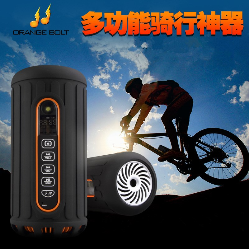 Orange Bolt JN-1008 Portable Waterproof Mini Wireless Bluetooth Super Bass Speakers Support AUX Input TF Card for Outdoor Riding(China (Mainland))