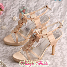 New Style Brand Champagne Shoes Sandals High Heels Free Dropshipping(China (Mainland))