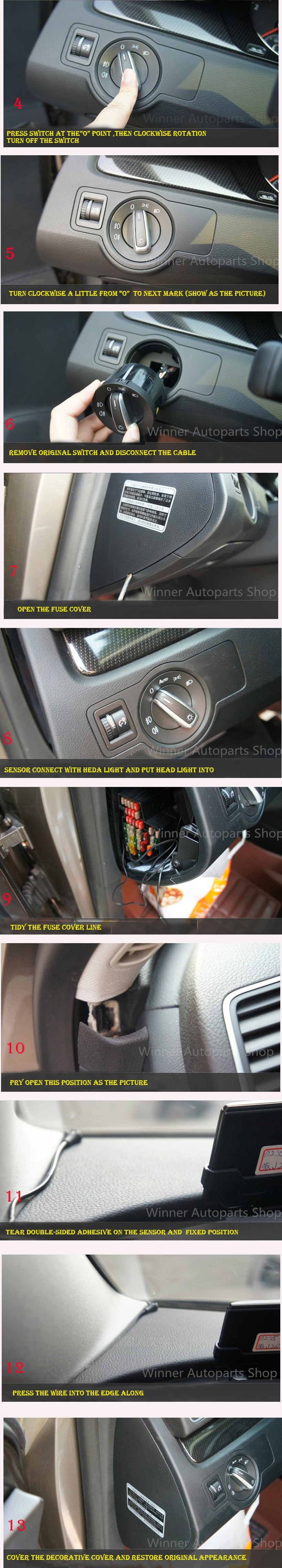 Купить OEM Подлинная Переключатель Света Фар и Фар Авто Датчик Используется Для VW Golf 5 6 MK5 MK6 Tiguan Passat B6 B7 CC Touran Jetta MKV