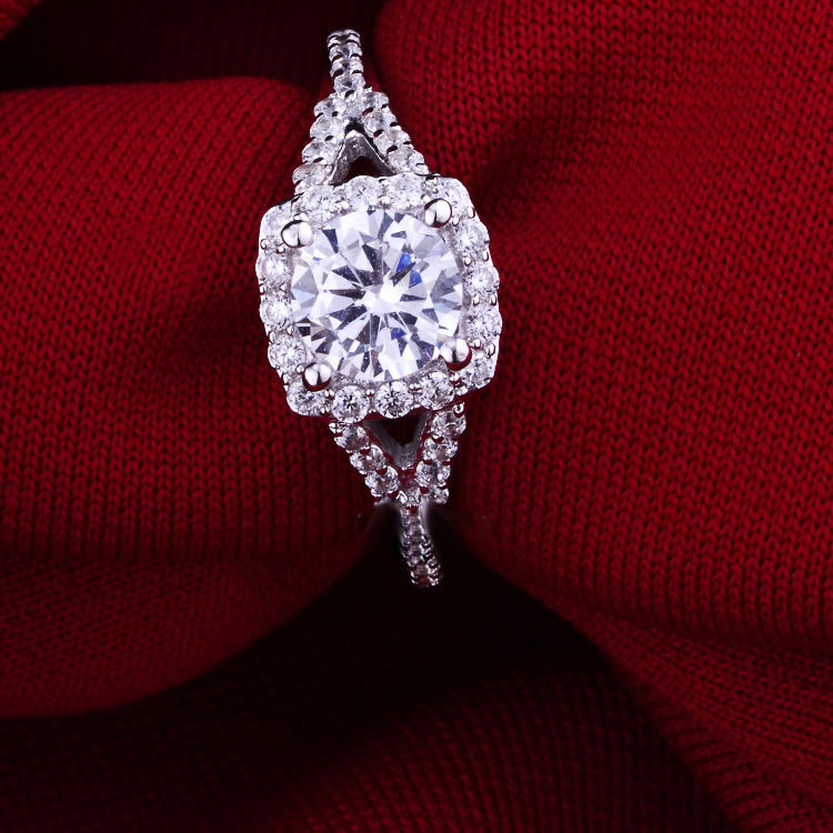 AAA CZ Diamond Ring Engagement Ring Wedding Rings Genuine 925 Sterling Silver Jewelry Rings For Women Bridal Jewelry 2015 New(China (Mainland))