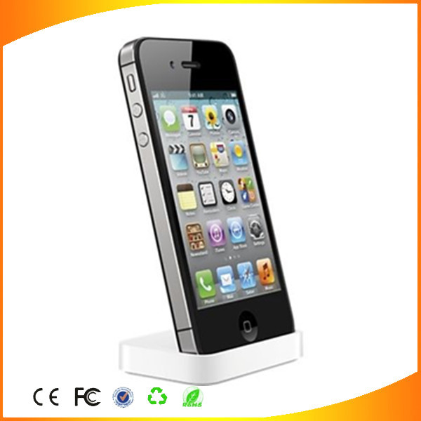 Factory wholesale good quality charger dock for original apple iphone 4 4s chargng dock station(China (Mainland))