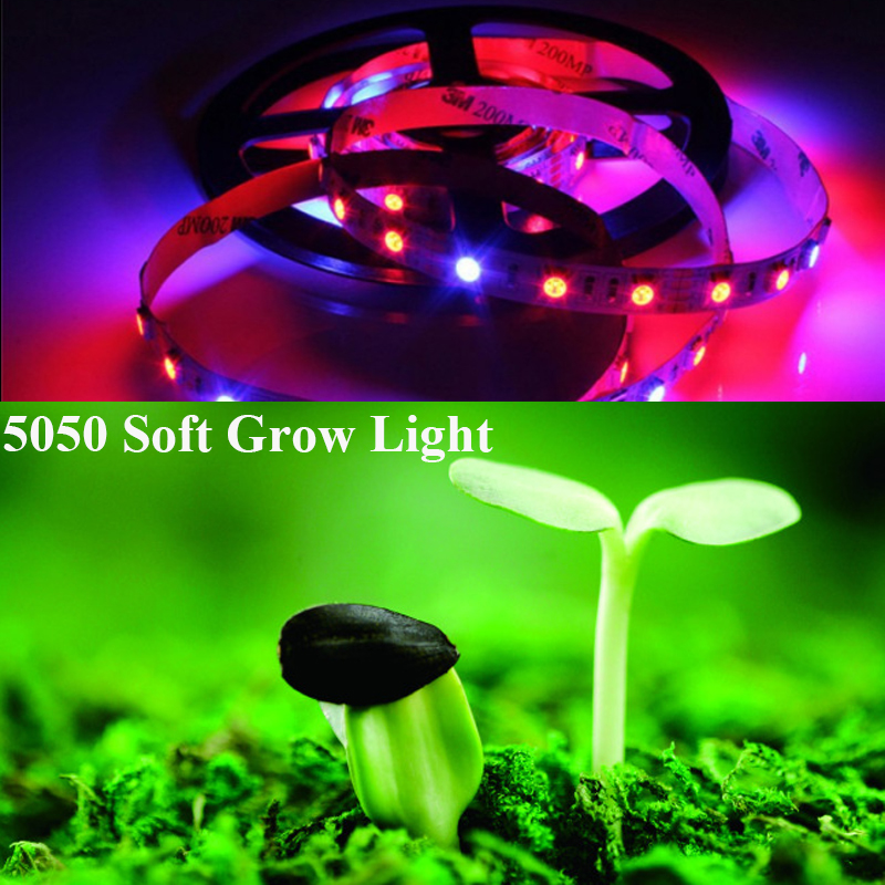 100cm DC12V full spectrum 5050 LED non-waterproof soft plants grow light Strip Red Blue 4:1 flower vegetable Hydroponic Lamps(China (Mainland))