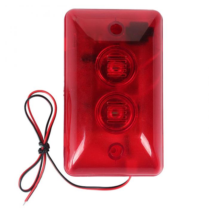 LED Flash 12 V LS-102 Security Audible and Visual Alarm Fire Detecting Instrument LCC77
